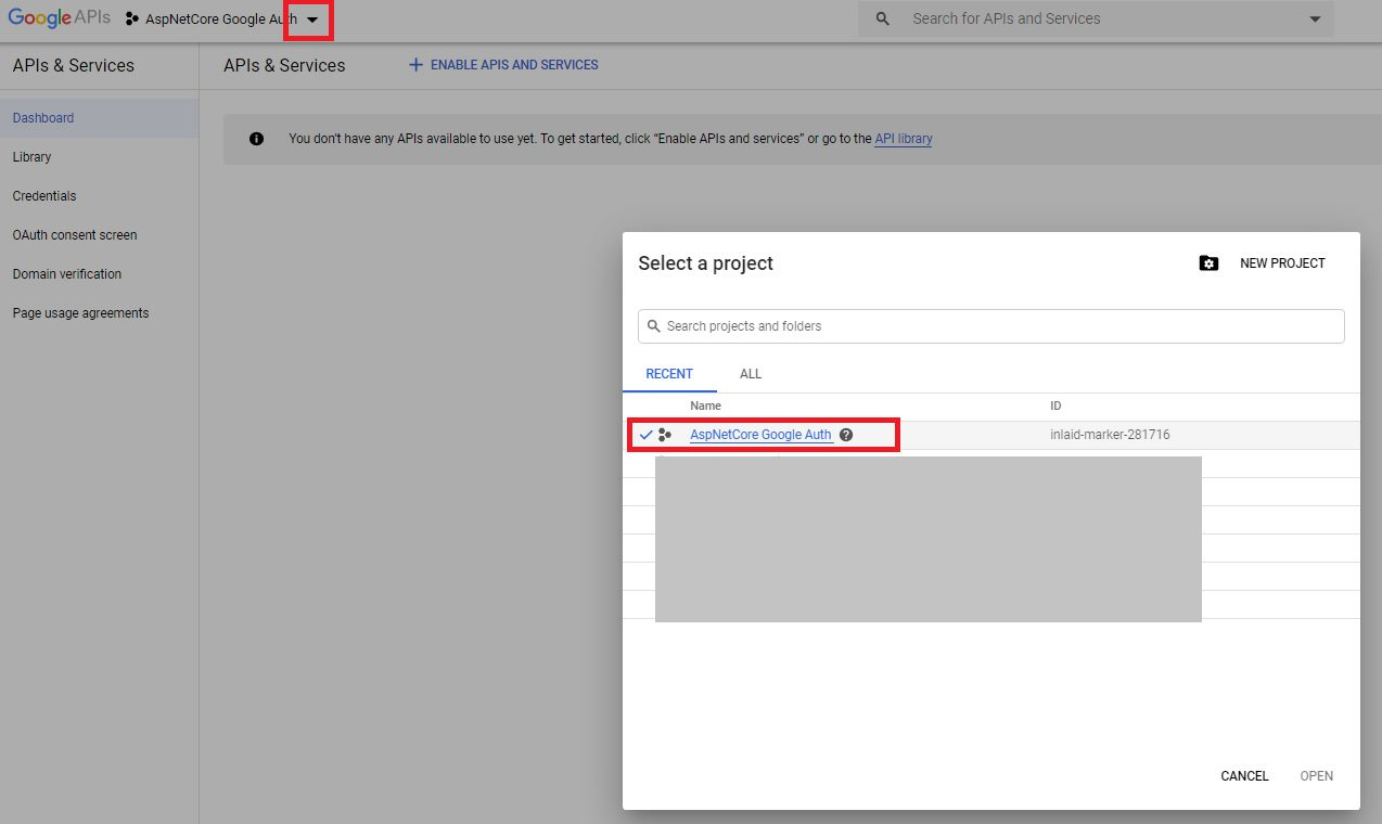 Google authentication - create client id and secret Step 4